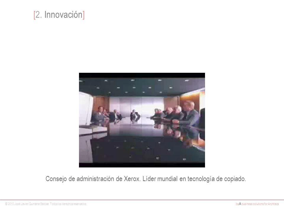 [2. Innovación] Consejo de administración de Xerox. Líder mundial en tecnología de copiado.